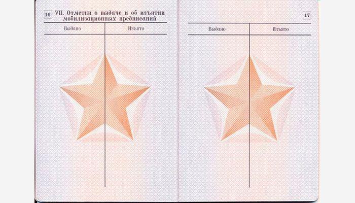 Военный билет страница 16 и 17