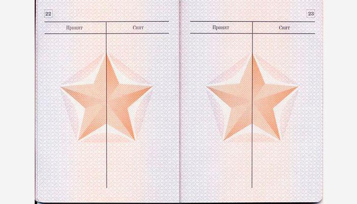 Военный билет страница 22 и 23