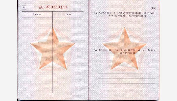 Военный билет страница 24 и 25