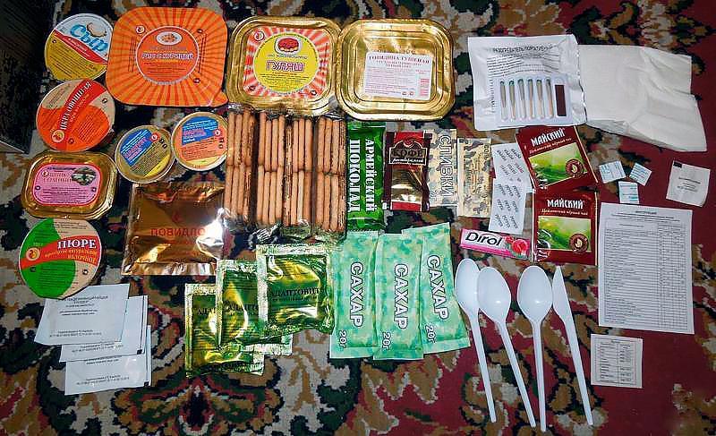 Индивидуальный рацион питания в армии России